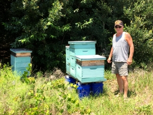 Rick with his beehives