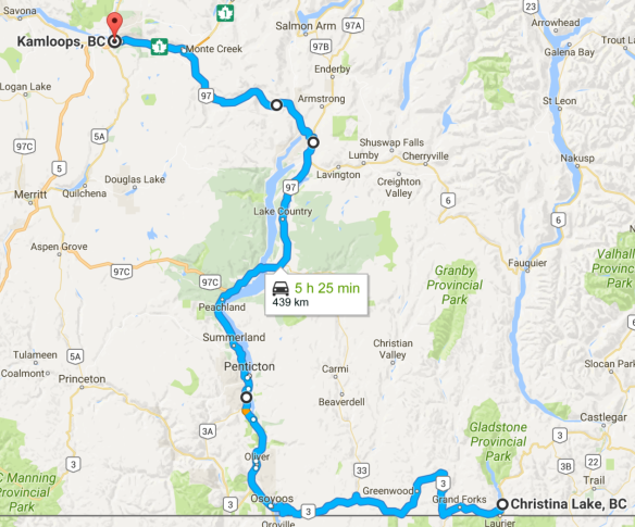 Ride Canadian Rockies-Map-Days 6